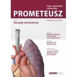 PROMETEUSZ Atlas Anatomii Człowieka Tom II. Nomenklatura angielska. Narządy wewnętrzne
